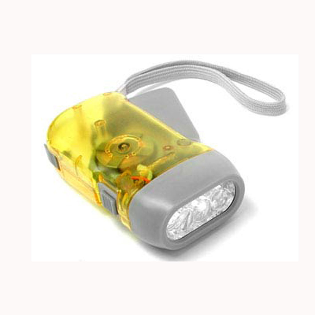 Hand Wind LED Flashlight Eco-Torch - Clear Yellow