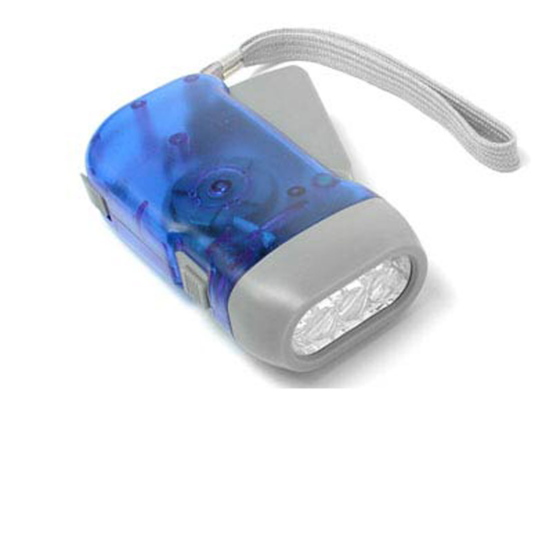Hand Wind LED Flashlight Eco-Torch - Clear Blue