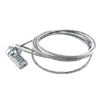 1 Galvanized Steel Cable & 1 Combination Lock For Notebook / PC