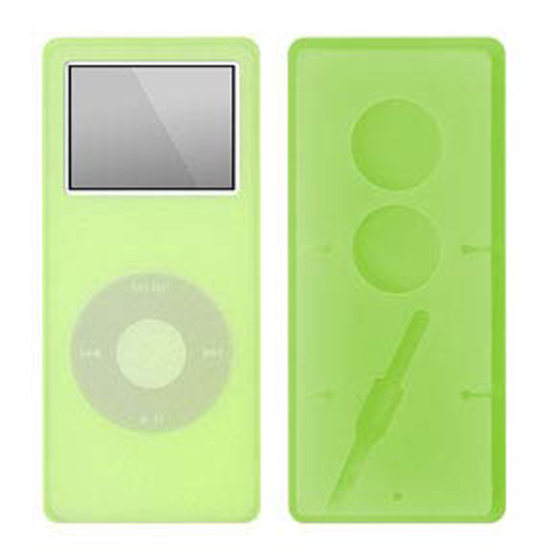Silicone Skin for iPod Nano with Headphone Wire Wrap - Green