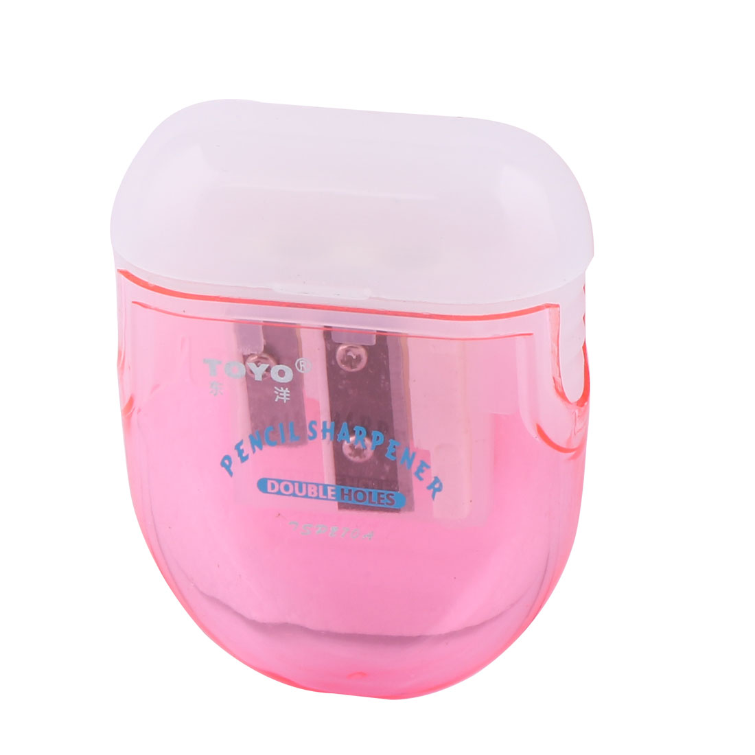 Stationery Twins Sharpener with Cap Red & Ice White