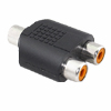Mini Female RCA Connect to dual RCA Jacks Splitter Adapter