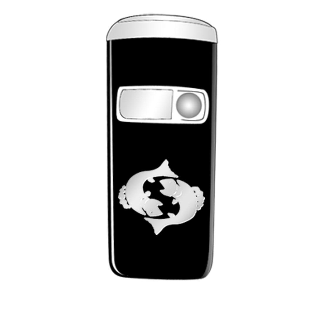 Metallic Mobile Phone Sticker - Pisces