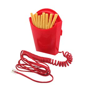 Fascinating Unique French Fries Phones - Red