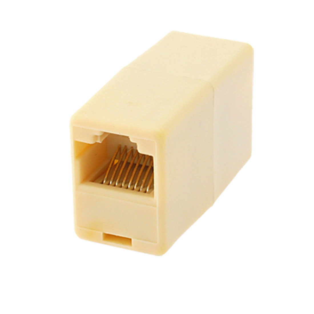 RJ45 8P8C Female CAT 5 Network Cable Adapter Connector Joiner Light Yellow
