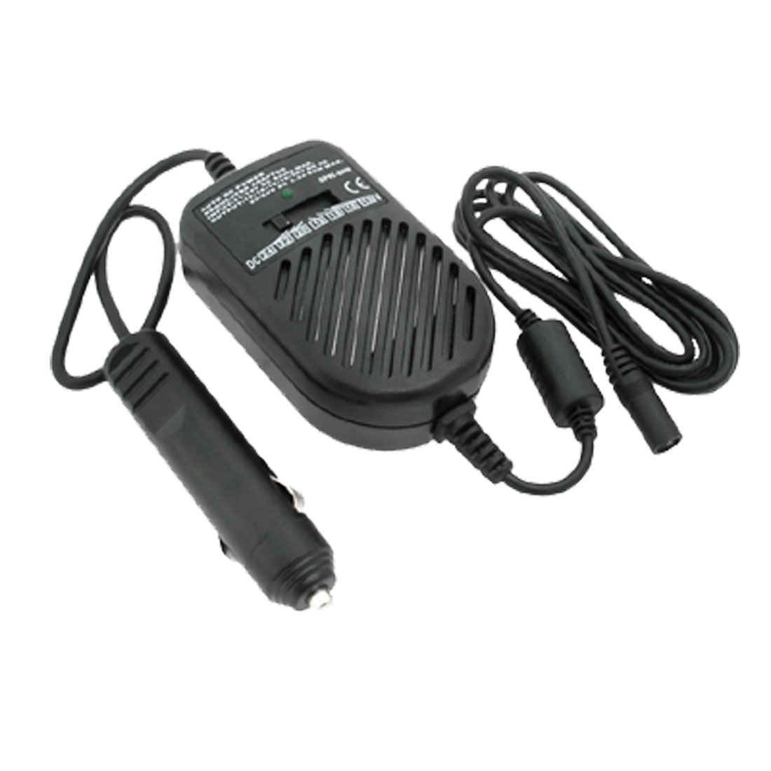 Auto DC power regulated Adaptor charger for Notebook Computer (SP8) Black