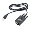 4 Feet USB to RS 232 Converter Cable - Black