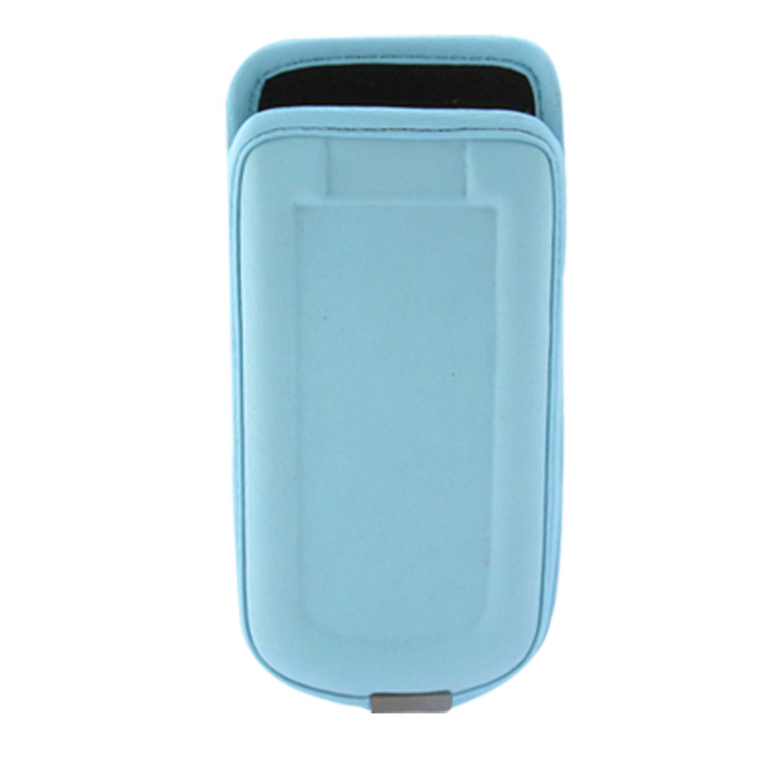 Exclusive Leather Pouch Holder with Belt Clip for Motorola L7 - Light Blue