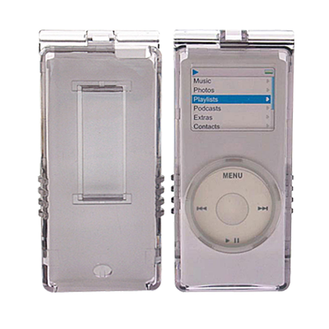 Crystal Hard Case w/ Cord for iPod Nano - Gray