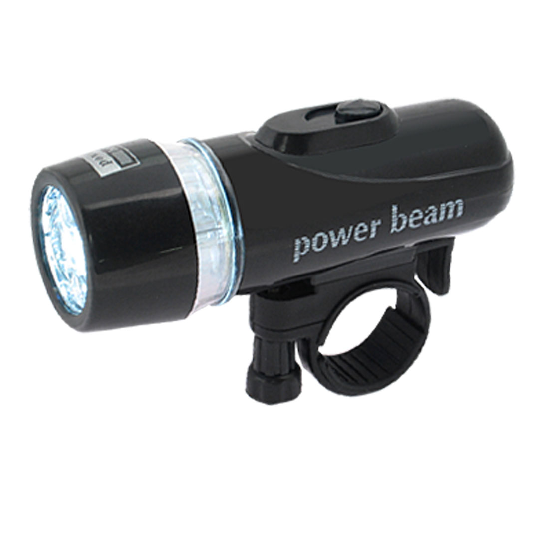 LED Bicycle Power Beam Headlight Set Black Flashlight Torch