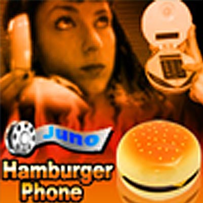 Desktop Corded Hamburger Telephone as in JUNO - Yellow