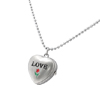 Necklace Jewelry Stainless Quartz Clock Watch - Silver LOVE Heart