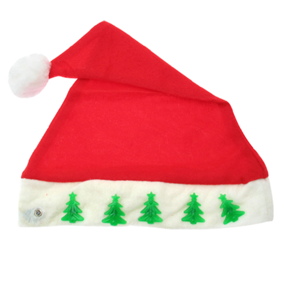 "X'mas Christmas Santa Claus Hat with Christmas Trees Flashlight 15"" - Red"