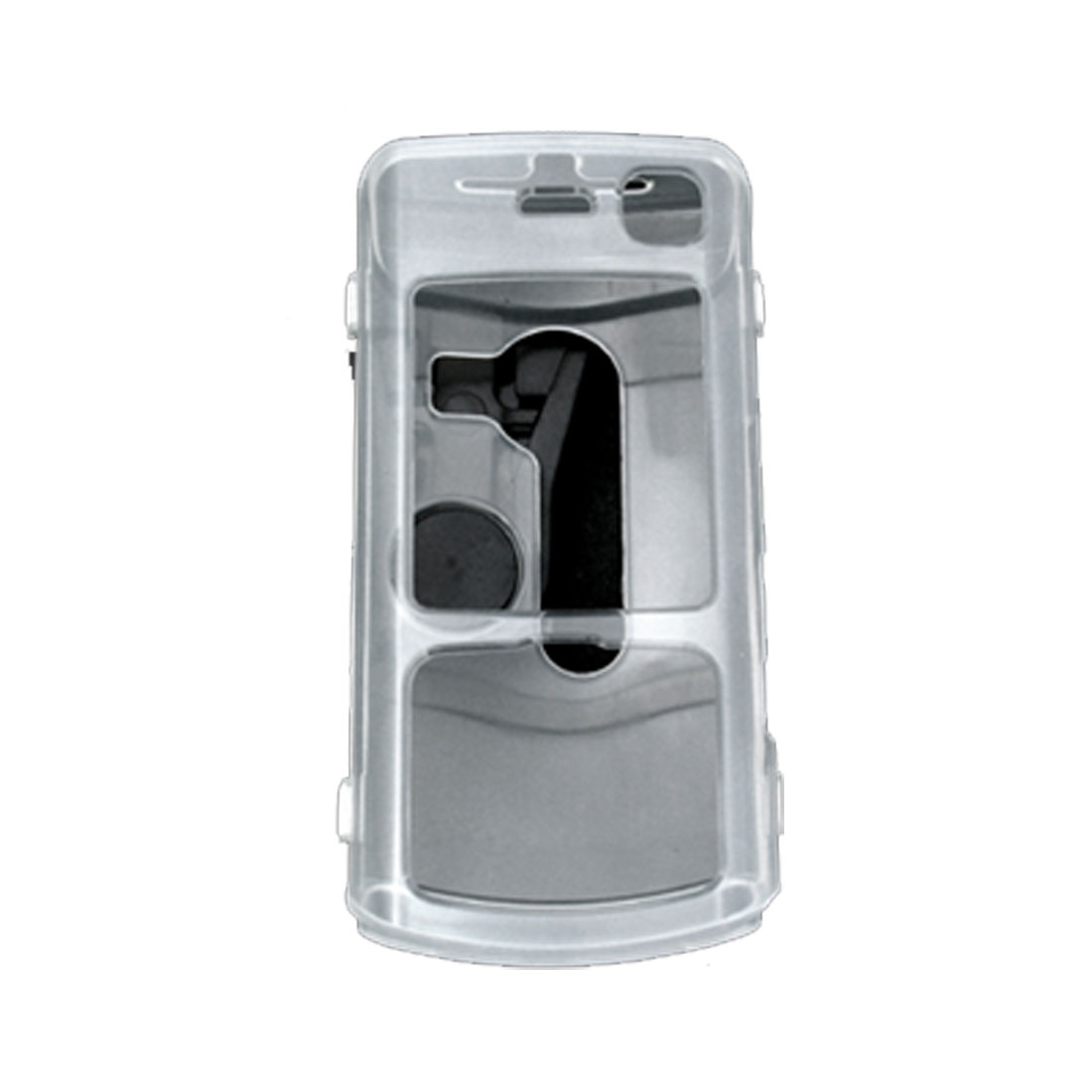 Crystal Cover Case w. Belt Clip for Nokia N70 - Clear