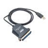 USB2.0 to Bi-Directional Parallel Printer Cable Adapter - Black