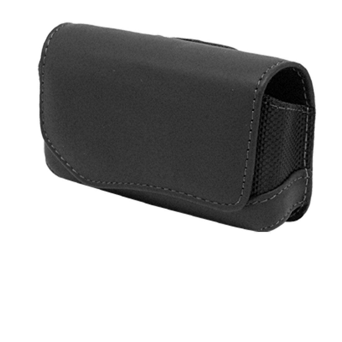Genuine Leather Case Holder for Nokia 6600 Phone - Black