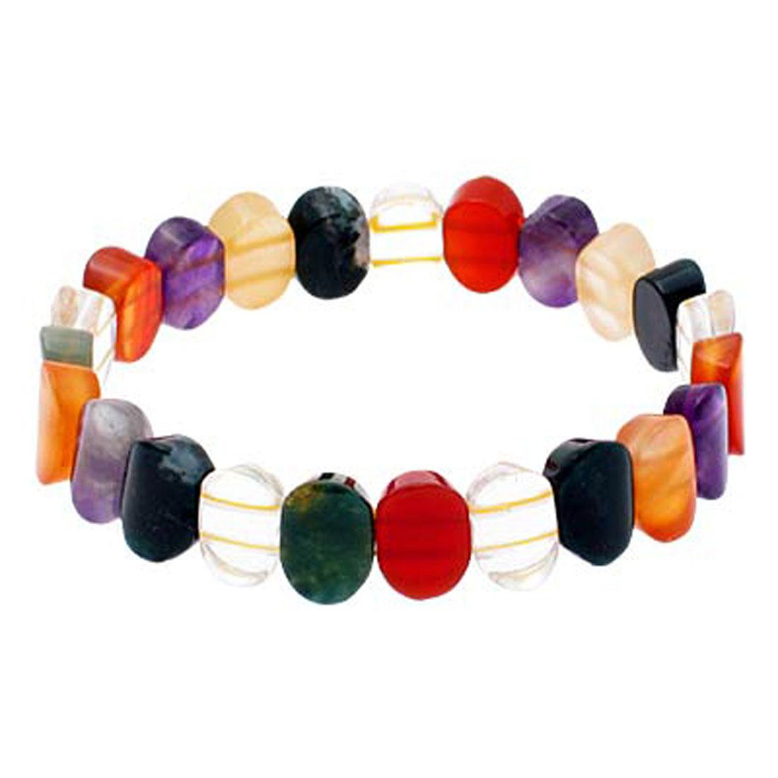 "Fashion Jewelry ""Victorian"" Rainbow Stones Bracelet 010"