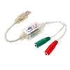 USB 2.0 Music Audio Cable to Dual 3.5mm w/ 5.1 Channel 3D Sound Card - White