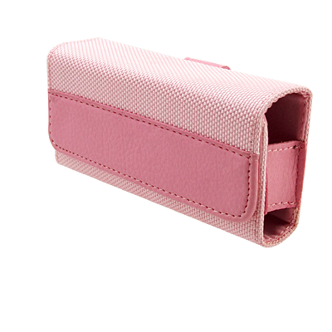 Leather & Nylon Case Holder + Strap for Nokia 7610 - Pink