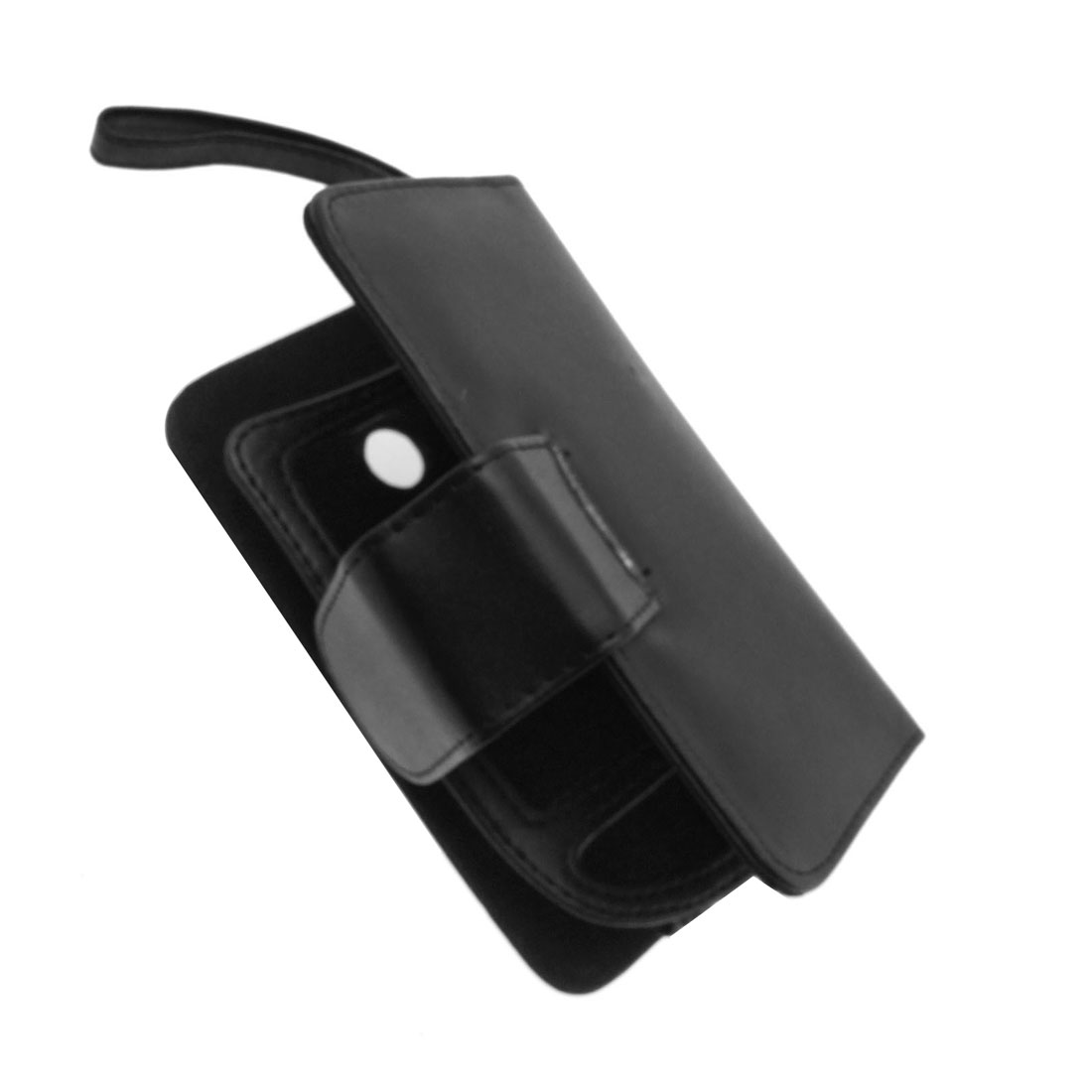 Genuine Leather Case Holder for Dopod 696 & Credit Card - Black