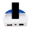 Wireless FM Transmitter 4 Channels for iPod MP3 MP4 (ES-6204) - white