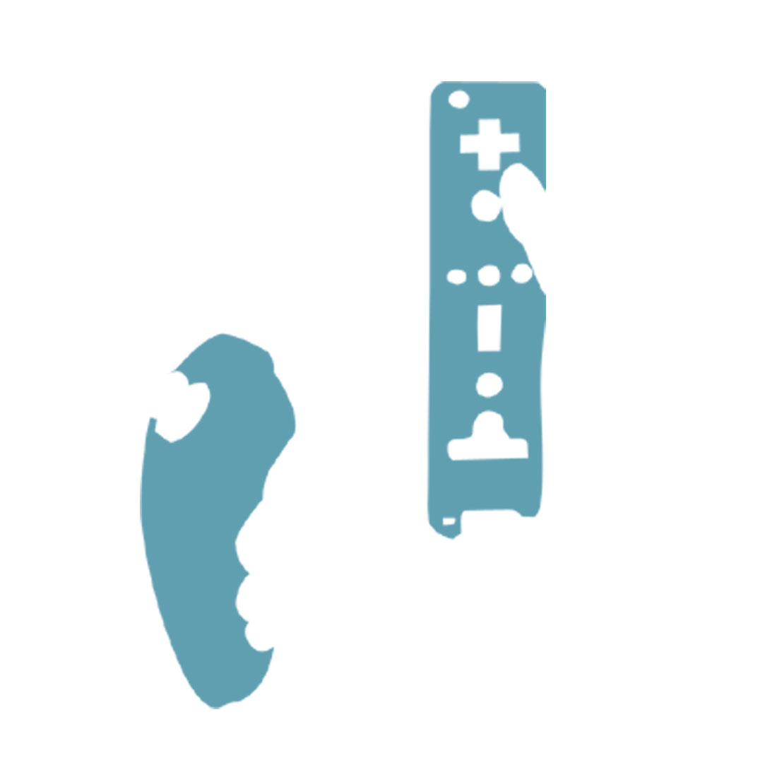 Silicone Skin Case for Nintendo Wii Game Remote Controllers - Blue