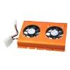 PC SATA IDE 3.5 Hard Disk Drive HDD Cooler 2 Fan Orange