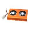 PC SATA IDE 3.5 Hard Disk Drive HDD Cooler 2 Fan Orange