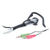 Multimedia Earphones Headphone Microphone with Ear Hook for PC MP3 MP4