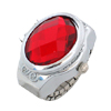 Ruby Red Simulated Crystal Diamond Ring Jewelry Watches Quartz Clocks