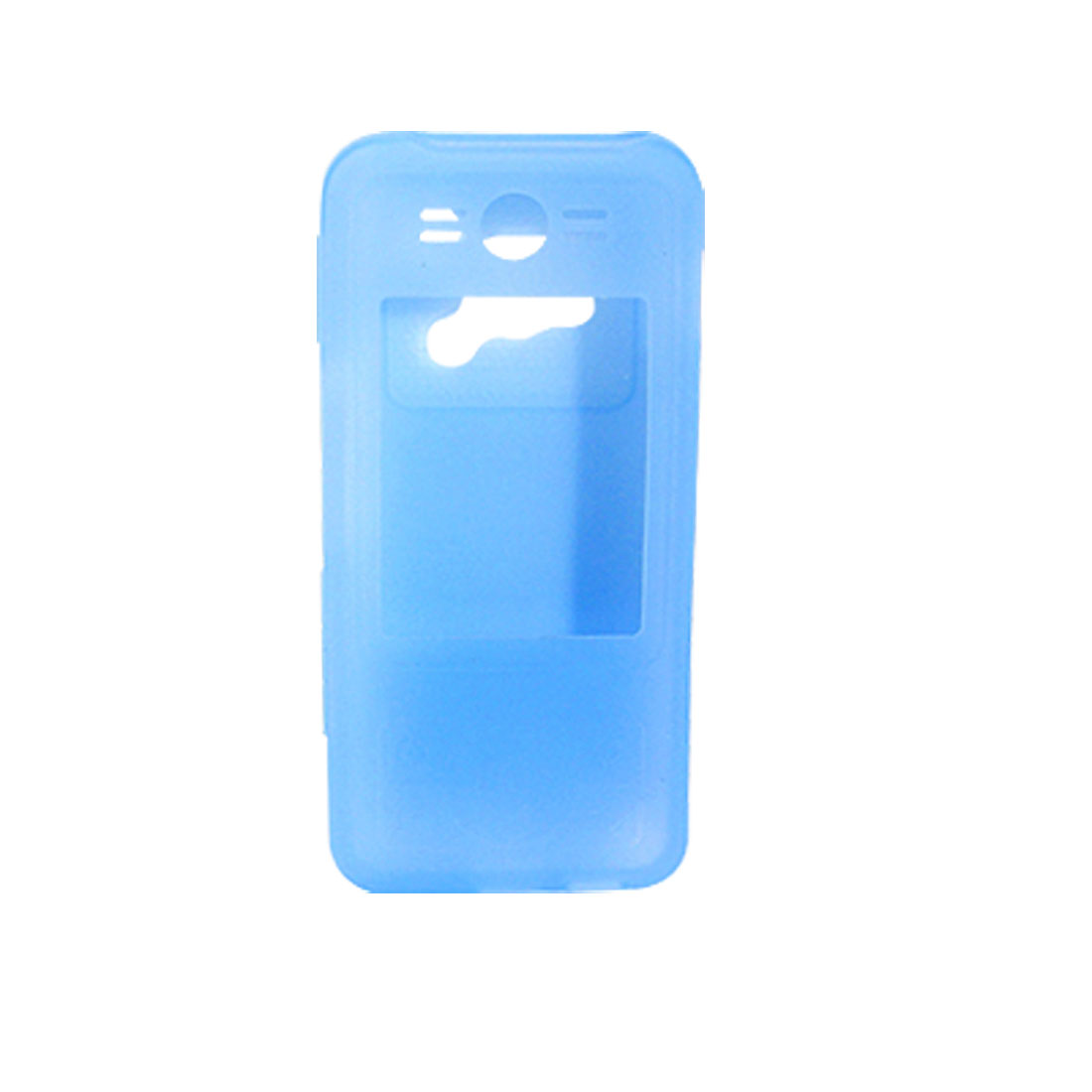 Mobile Phone Silicone Skin Case for Motorola E6 690 - Light Blue