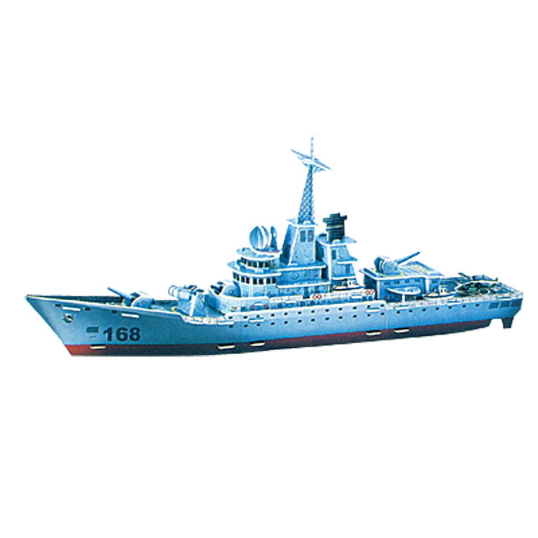 3D- Educational Puzzle Airfoam Building Missile Frigate for DIY Lover