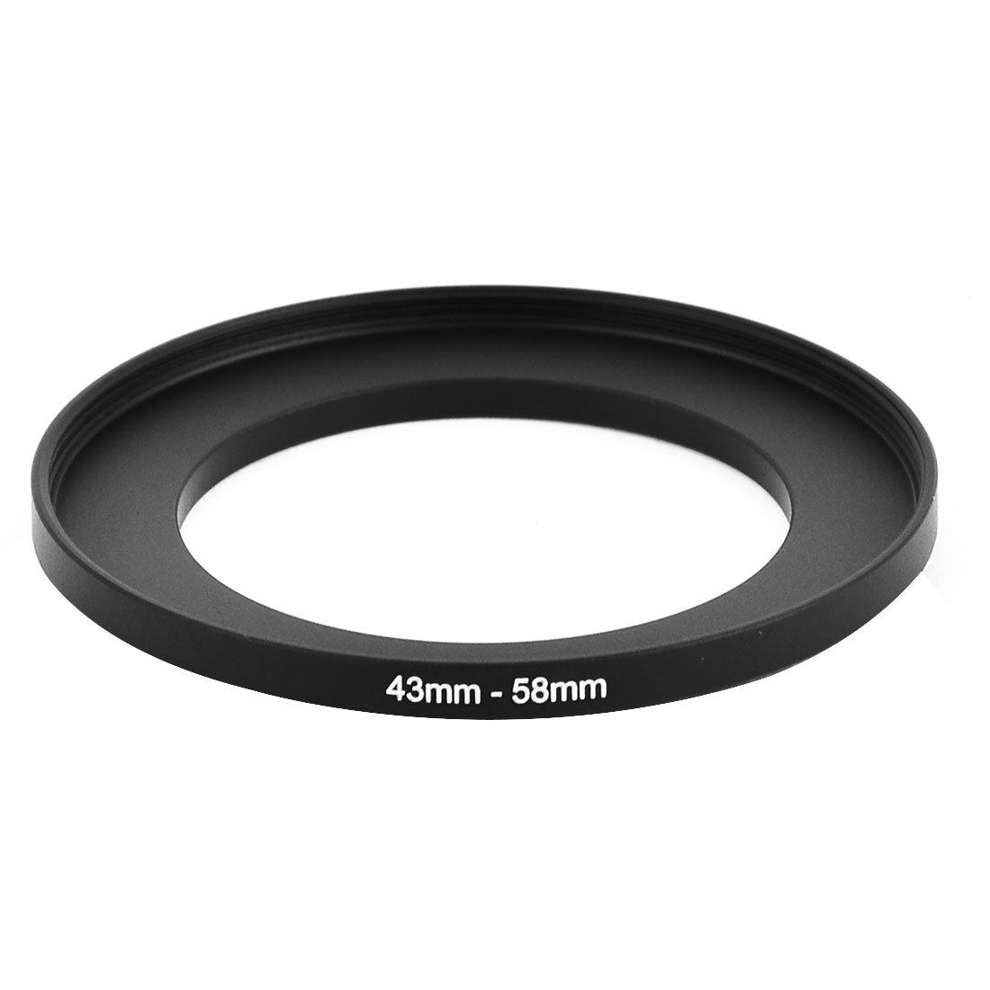 43mm-58mm Camera Lens Filter Step Up Ring Adapter - Black