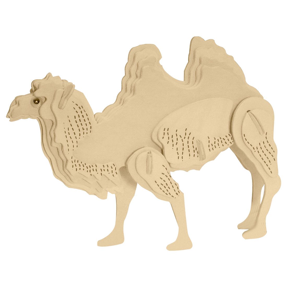 Toys - Wooden Puzzle Toy Models Camel