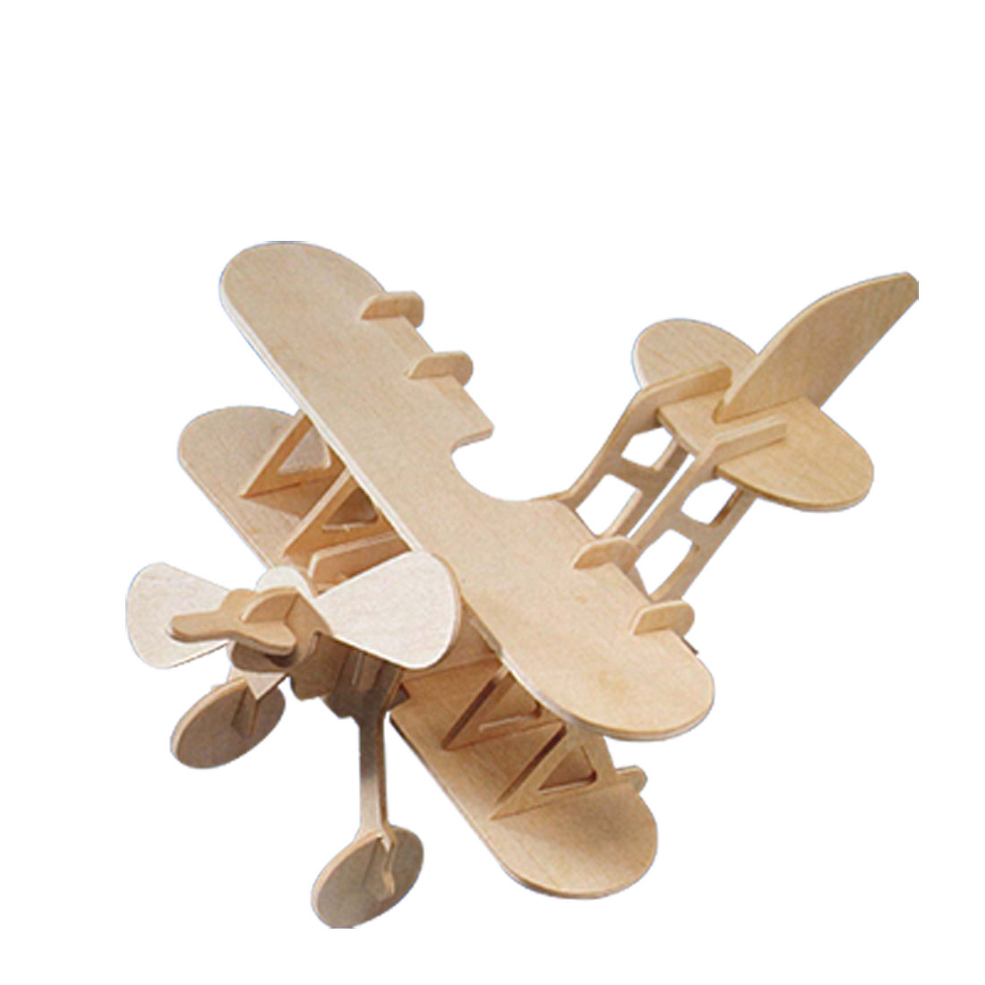 Toys - Wooden Puzzle Toy Models Bi-Plane