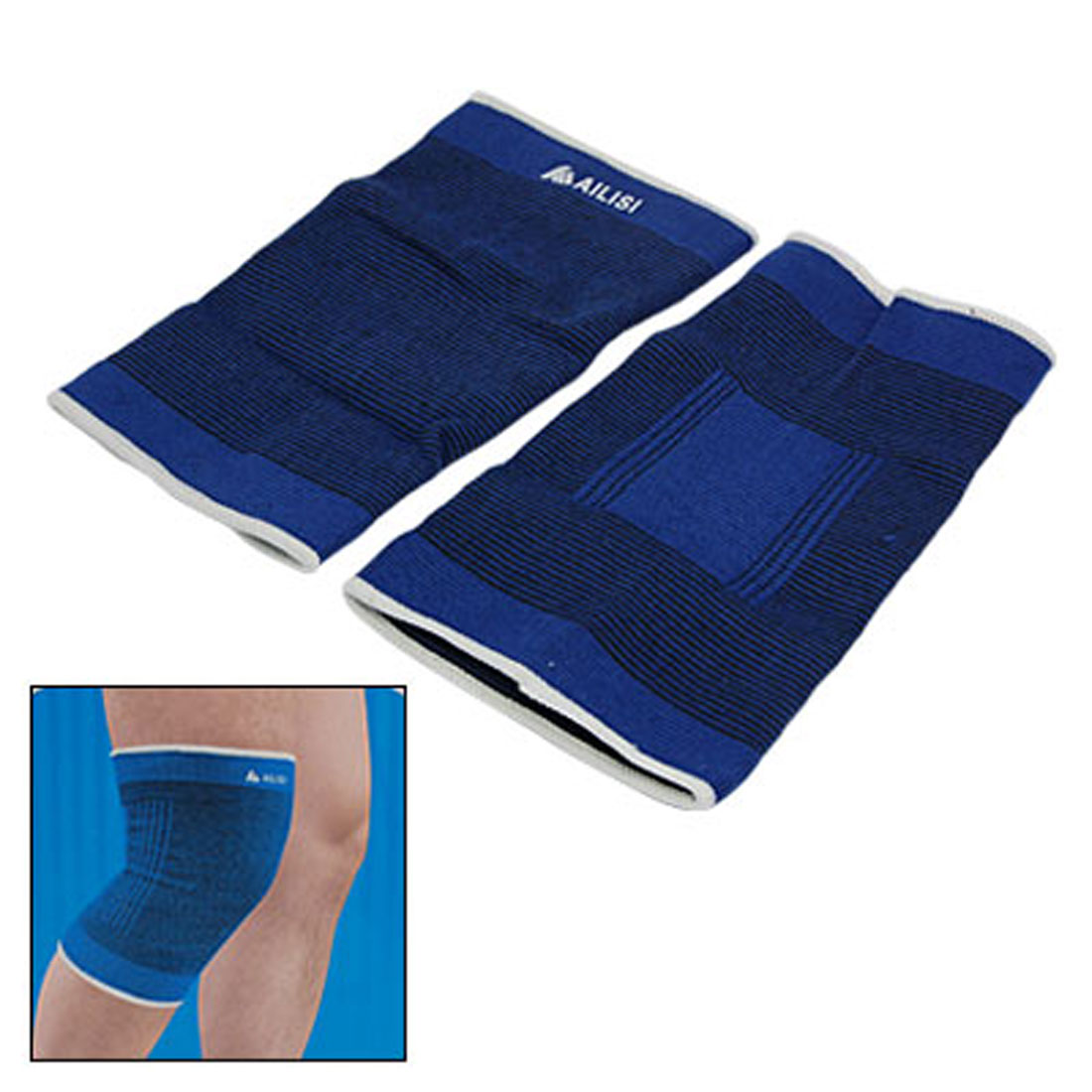 Sports Knee Support Brace Pad Wrap Band Blue