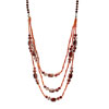 Fashion Jewelry The Accessorize Sweater Brownness Crystal Beads Necklace