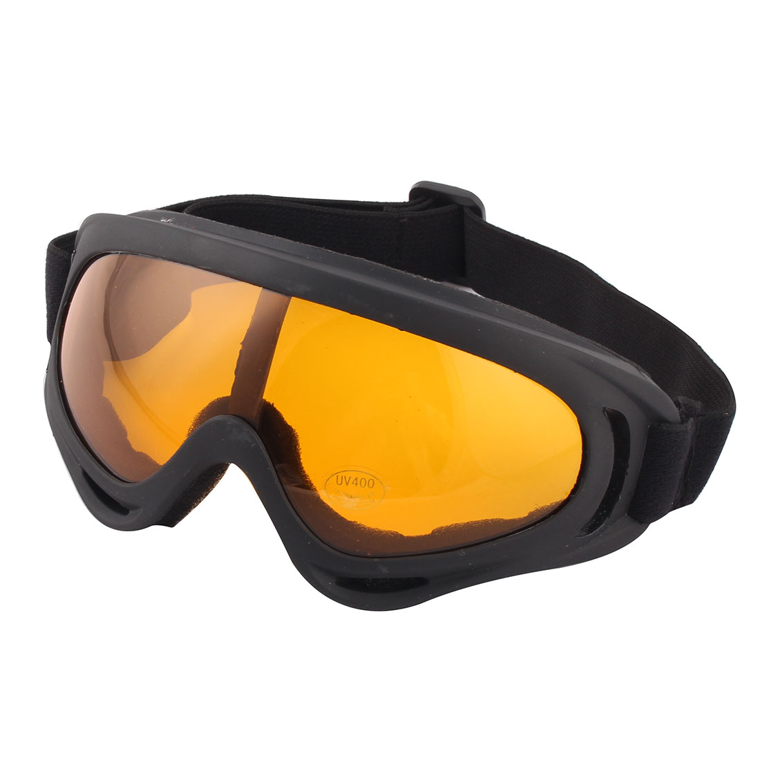 Black Frame Amber Lens Ski Snowboard Goggles Sports Glasses NV123