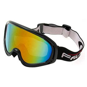 Aspen Plato - Ski Snowboard Goggles Skate Sports Glasses (Black Frame + Color coated Lens)- NV127