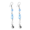 Fashion Jewelry Celebs' Picks Sky Blue Crystals Beads Dangle Earrings