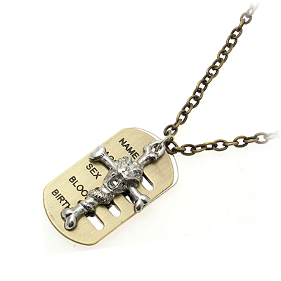 Fashion Jewelry Bone Cross Cupreous Chain Necklace