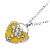 Wild at Heart Crystal Bead Necklace Watch Silver Yellow