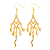 Fashion Jewelry Starlight Dangle Earrings-Golden