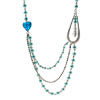 Fashion Jewelry Oval Spring Pearls Necklace-Light Viridity