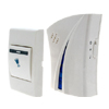 European Style Flash Light Wireless Remote Control Doorbell White