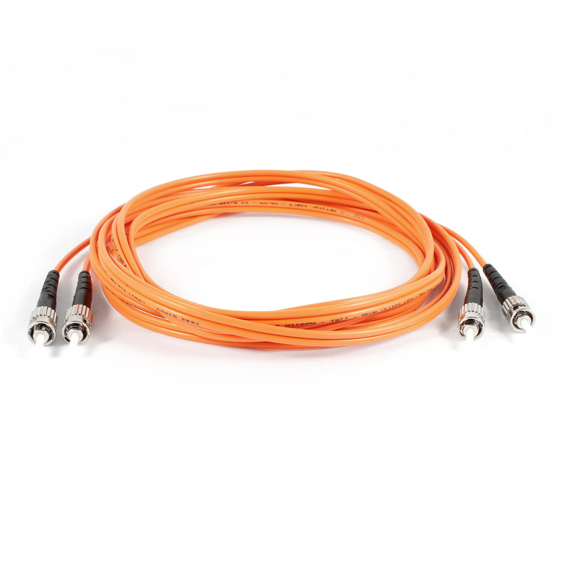 Double End ST Connector Single Mode Fiber Optic Cable Cord 3 Meters