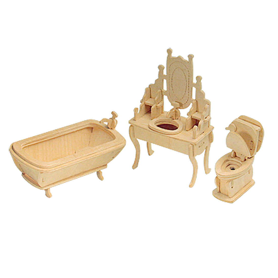 Toys - Wooden Puzzle Toy Models Bathroom