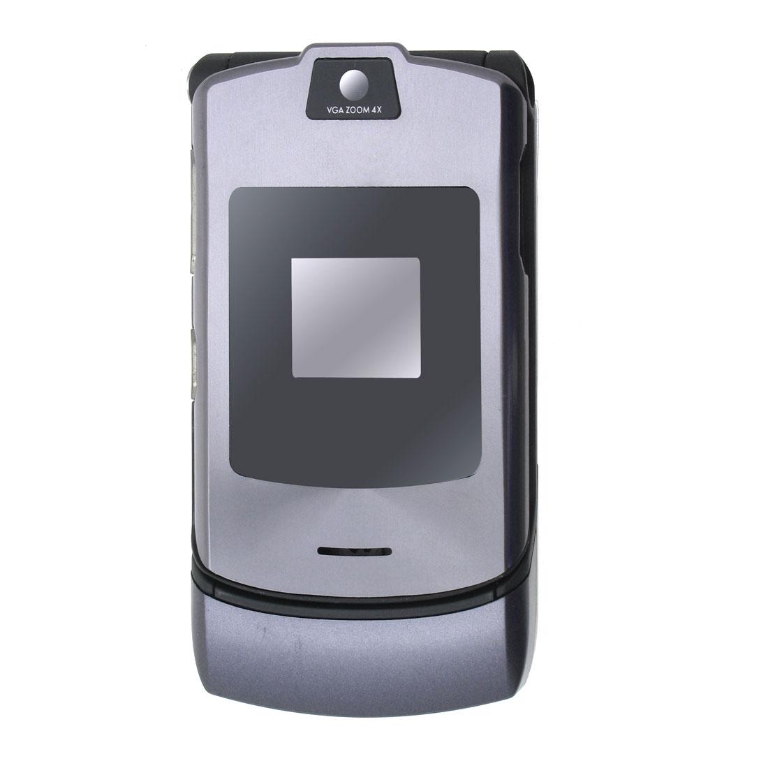 Mobile Cell Phone Housing Cover Faceplate for Motorola V3i -Gray