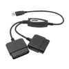 PSX DDR Converter Cable for Sony Playstation PS to USB PC Black