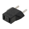 US to 2 Pin EU German AC Travel Power Adapter Plug Converter Black